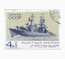 The Soviet Union 1970 CPA 3910 stamp Missile Cruiser Groznyj cancelled USSR One Piece - Short Sleeve