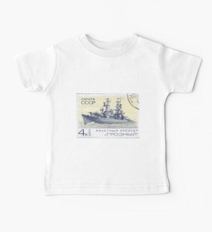 The Soviet Union 1970 CPA 3910 stamp Missile Cruiser Groznyj cancelled USSR Baby Tee