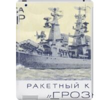 The Soviet Union 1970 CPA 3910 stamp Missile Cruiser Groznyj cancelled USSR iPad Case/Skin