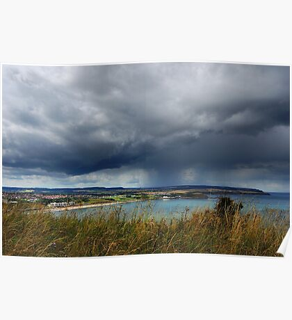 Threatening Sky, North bay Scarborough Poster