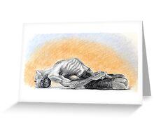 Mathsyasana- David Swenson Greeting Card