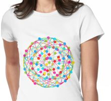 Round abstract ball Womens Fitted T-Shirt