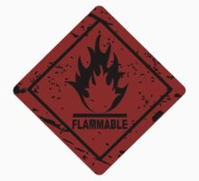 Flammable warning symbol by hibrida13