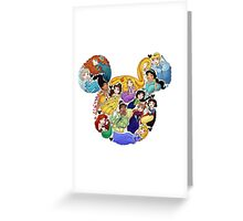 Princess Mickey Ears Greeting Card