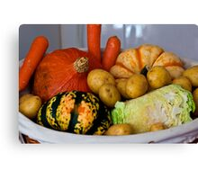 Basket of Veg Canvas Print