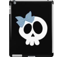 Bow Skull Blue iPad Case/Skin
