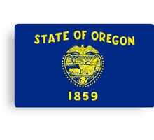 State Flags of the United States of America -  Oregon Canvas Print