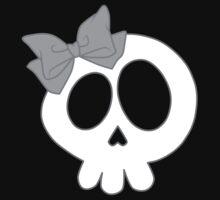 Bow Skull Gray Kids Tee