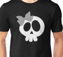 Bow Skull Gray Unisex T-Shirt