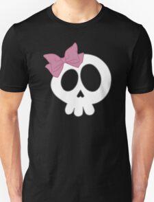 Bow Skull Pink Unisex T-Shirt