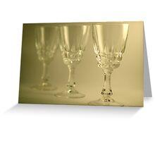 trois verres Greeting Card
