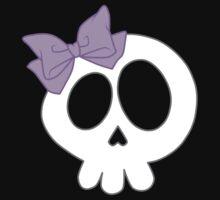 Bow Skull Purple Kids Tee