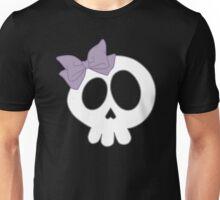 Bow Skull Purple Unisex T-Shirt
