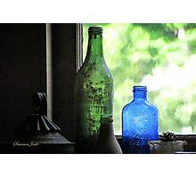Old Bottles in an Artist's Studio Window Photographic Print