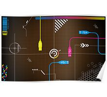 USB Vector Poster