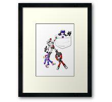 Transformers Decepticon Chibis Framed Print