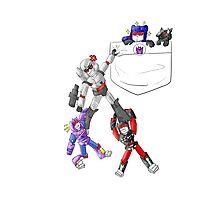Transformers Decepticon Chibis Photographic Print