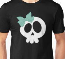 Bow Skull Teal Unisex T-Shirt