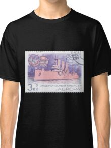 The Soviet Union 1970 CPA 3909 stamp Cruiser Aurora cancelled USSR Classic T-Shirt
