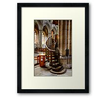 Stairs to the Pulpit at Ripon Cathedral Framed Print