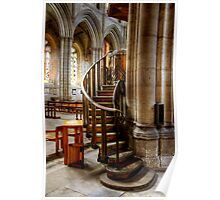 Stairs to the Pulpit at Ripon Cathedral Poster