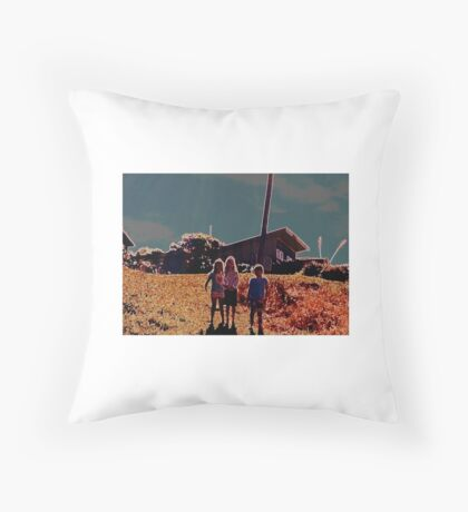 walking down the hill Throw Pillow