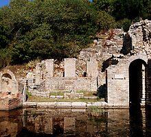 Roman Baths, Butrint, Albania by Karen Martin