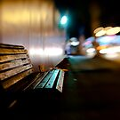bench@night by waitin&#x27; for rain