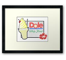 Dole Whip Float Framed Print