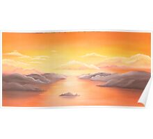 whitsunday sunset Poster