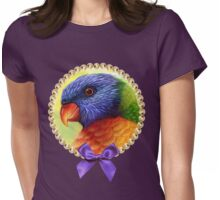Rainbow lorikeet realistic painting Womens Fitted T-Shirt