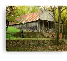 Looking Back In Time 2, Old War Eagle Mill Store Canvas Print