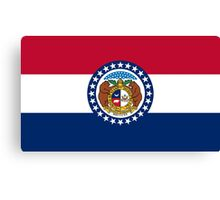State Flags of the United States of America -  Missouri Canvas Print