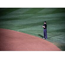 The Lonely Umpire Photographic Print