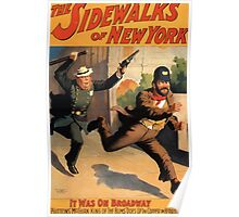Poster 1890s The sidewalks of New York Broadway poster 1896 Poster