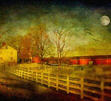 Moonrise Over New England by Michael  Petrizzo