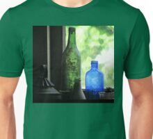 Old Bottles in an Artist's Studio Window Unisex T-Shirt