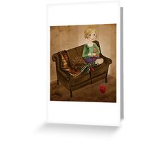 Warm winter socks Greeting Card