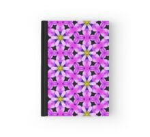 Pattern 513 - Black and Purple Floral Hardcover Journal