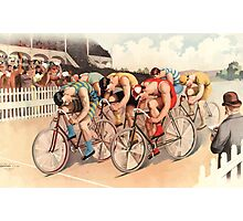Poster 1890s Bicycle race scene 1895 Photographic Print