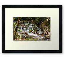 Little Falls HDR Framed Print