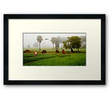The Village Life Framed Print