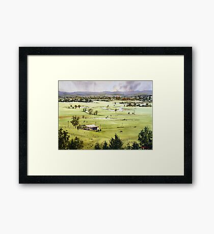 From Streeton Lookout, Freemans Reach Framed Print