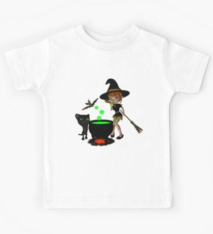Cauldron Witch Shirts & Stickers Kids Tee