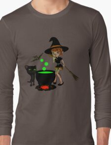 Cauldron Witch Shirts & Stickers Long Sleeve T-Shirt