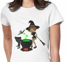 Cauldron Witch Shirts & Stickers Womens Fitted T-Shirt