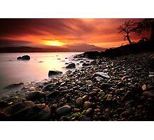 Sun kissed rocks Photographic Print