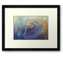 Underwater Games Framed Print