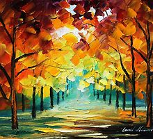 FOREST OF LOVE - Original Art Oil Painting By Leonid Afremov by Leonid  Afremov
