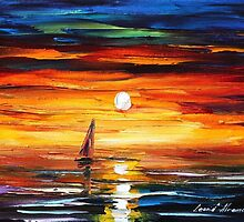 SUNSET TEARS - Original art oil painting on canvas by Leonid Afremov by Leonid  Afremov